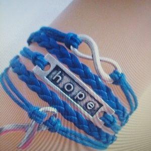 Jewelry - 🔥5/$25 hope  bracelet colon cancer blue ribbon